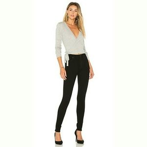 Hudson Barbara High Waist Super Skinny Black Jeans